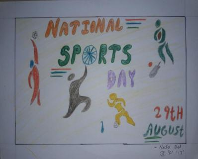 National Sports Day Poster Making Competition